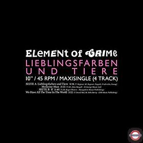 "ELEMENT OF CRIME — Lieblingsfaben und Tiere (10"" Maxi-Single)"