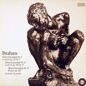 Brahms: Streichquartette - mit Janáček-Quartett (2 LP)