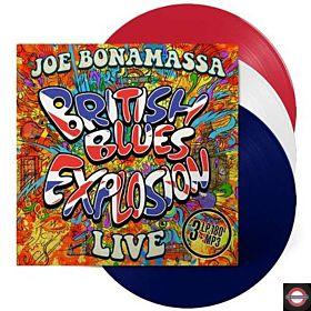 JOE BONAMASSA — British Blues Explosion Live [RED, WHITE & BLUE Coloured Vinyl]