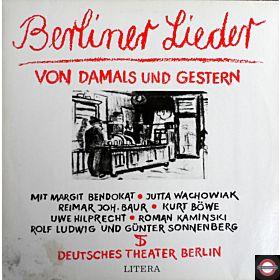 Berliner Lieder Von Damals Und Gestern